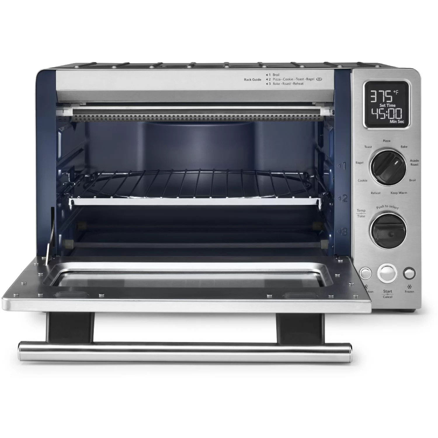 kitchen aid toaster oven shelving units kitchenaid 1 cubic foot stainless steel convection