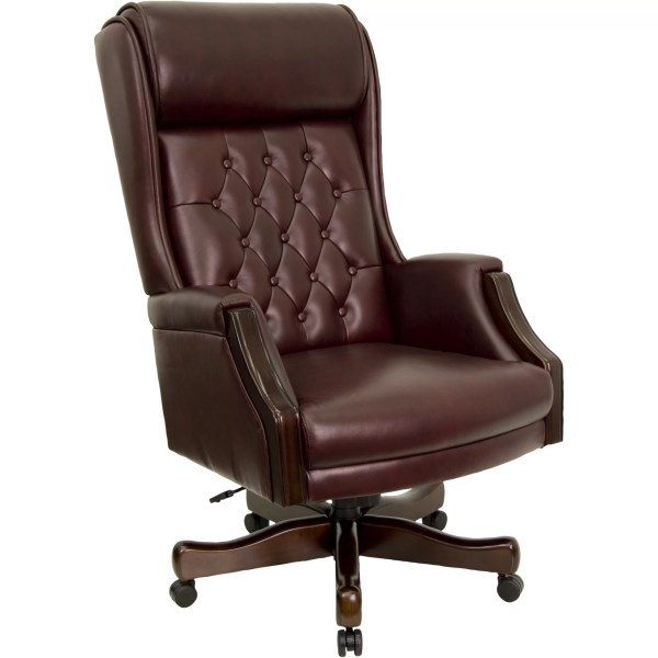 flash furniture high back executive leather office chair Flash Furniture High-Back Leather Executive Office Chair & Reviews   Wayfair Supply
