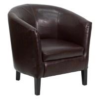 Flash Furniture Leather Barrel Shaped Reception Lounge ...