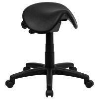 Flash Furniture Backless Saddle Stool & Reviews   Wayfair