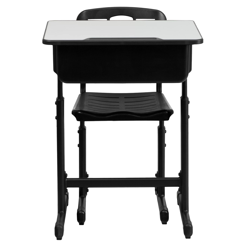 desk chair combo pink kids flash furniture laminate adjustable height