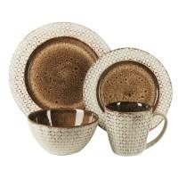 American Atelier Piper Stoneware 16 Piece Dinnerware Set ...
