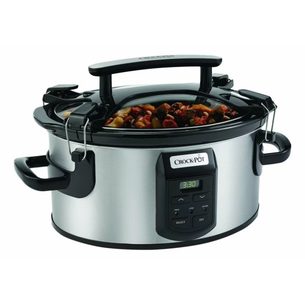 Crock-pot 6-quart Single Hand Cook Carry Oval Slow Cooker &