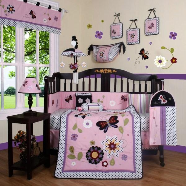 Geenny Boutique Daisy Garden 13 Piece Crib Bedding Set &