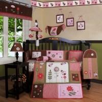 Geenny Boutique Ladybug Flower 12 Piece Crib Bedding Set ...