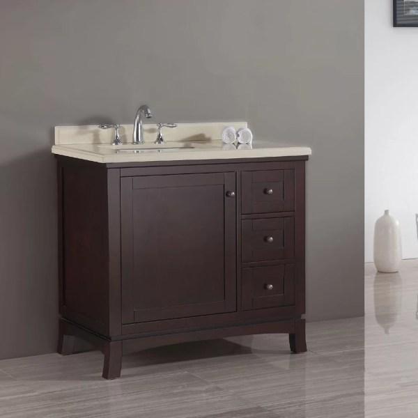 Wine 36 Single Bathroom Vanity Set Vtwctr