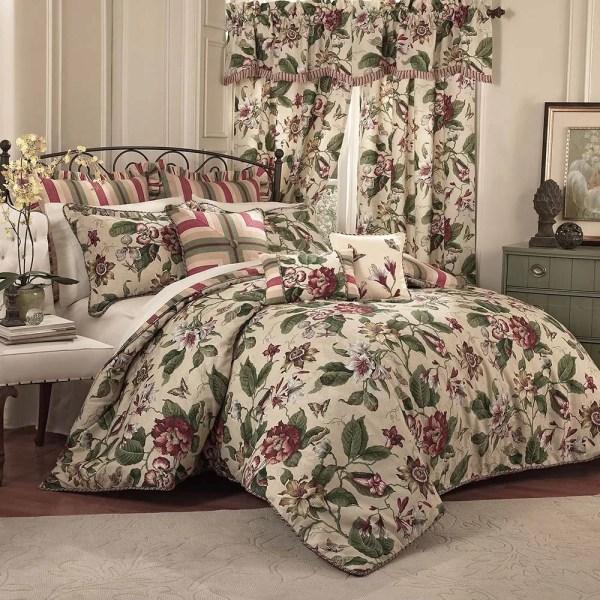Waverly Laurel Springs 4 Piece Reversible Comforter Set &