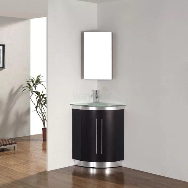 "Bauhaus Bath Diara 31"" Single Corner Bathroom Vanity Set"