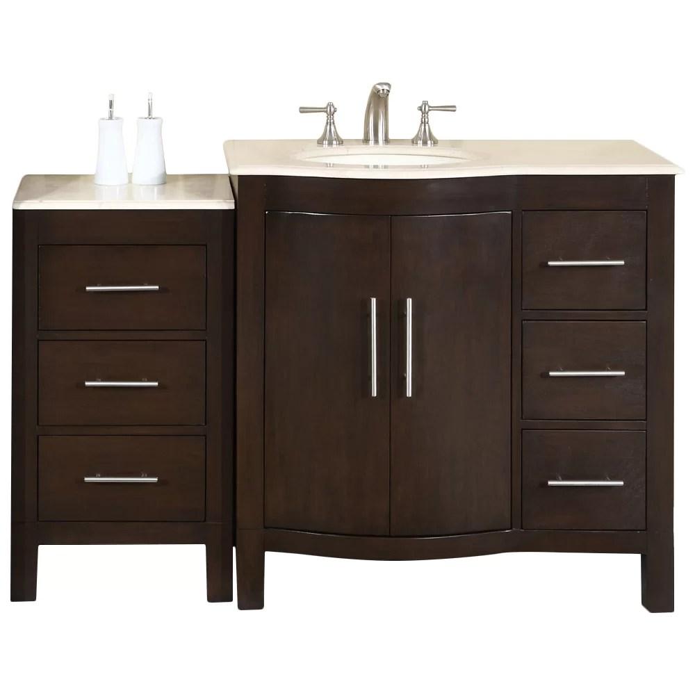 Silkroad Exclusive Kimberly 54 Single Bathroom Vanity Set