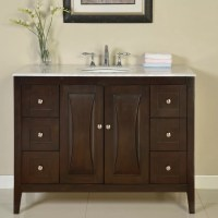"Silkroad Exclusive 48"" Single Sink Cabinet Bathroom Vanity"