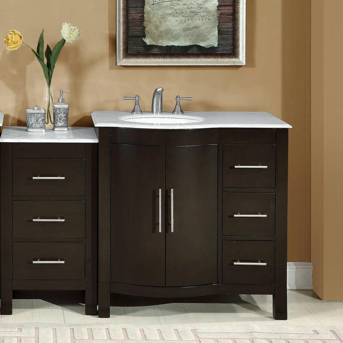Silkroad Exclusive 535 Single Sink Lavatory Cabinet