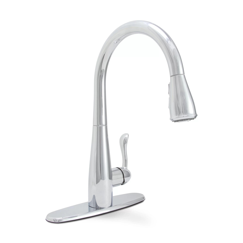 pull down kitchen faucet reviews farmhouse table sets premier sanibel single handle