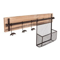 Wildon Home  Hampton Entryway Wall Coat Rack with Storage