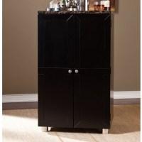 Wildon Home  Capri Bar Cabinet with Wine Storage ...