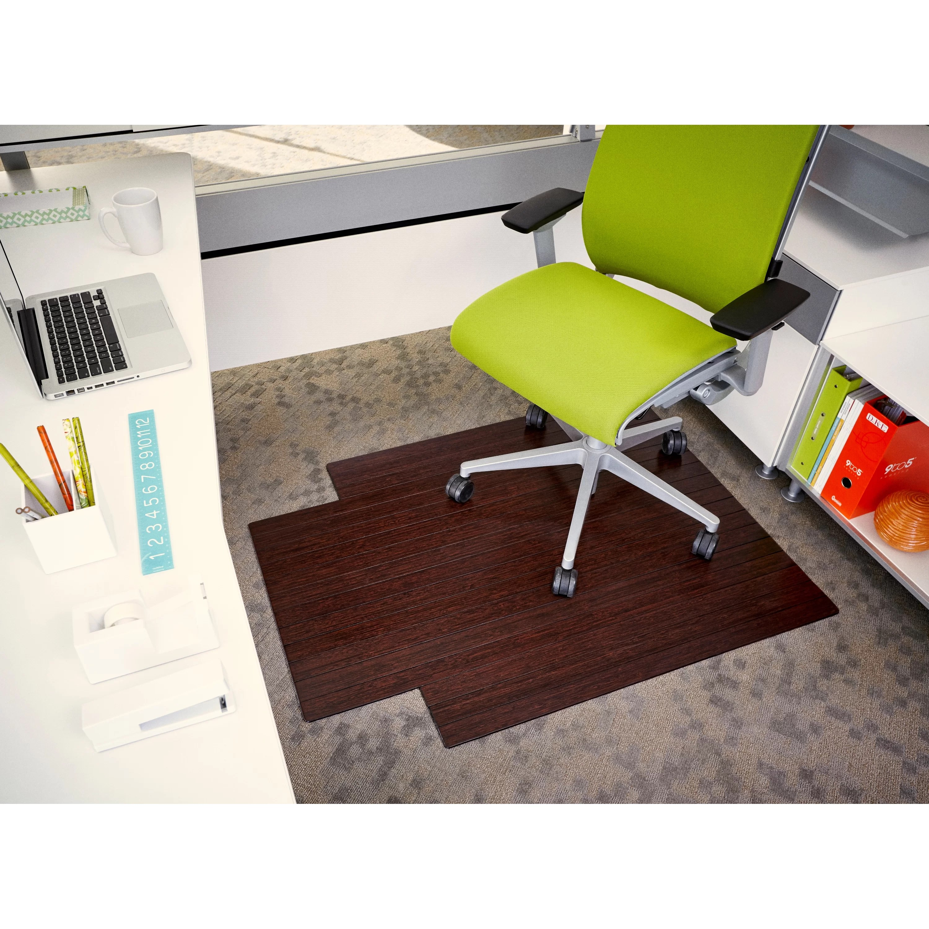 Bamboo Chair Mat Wildon Home Low Pile And Hardwood Bamboo Office Chair