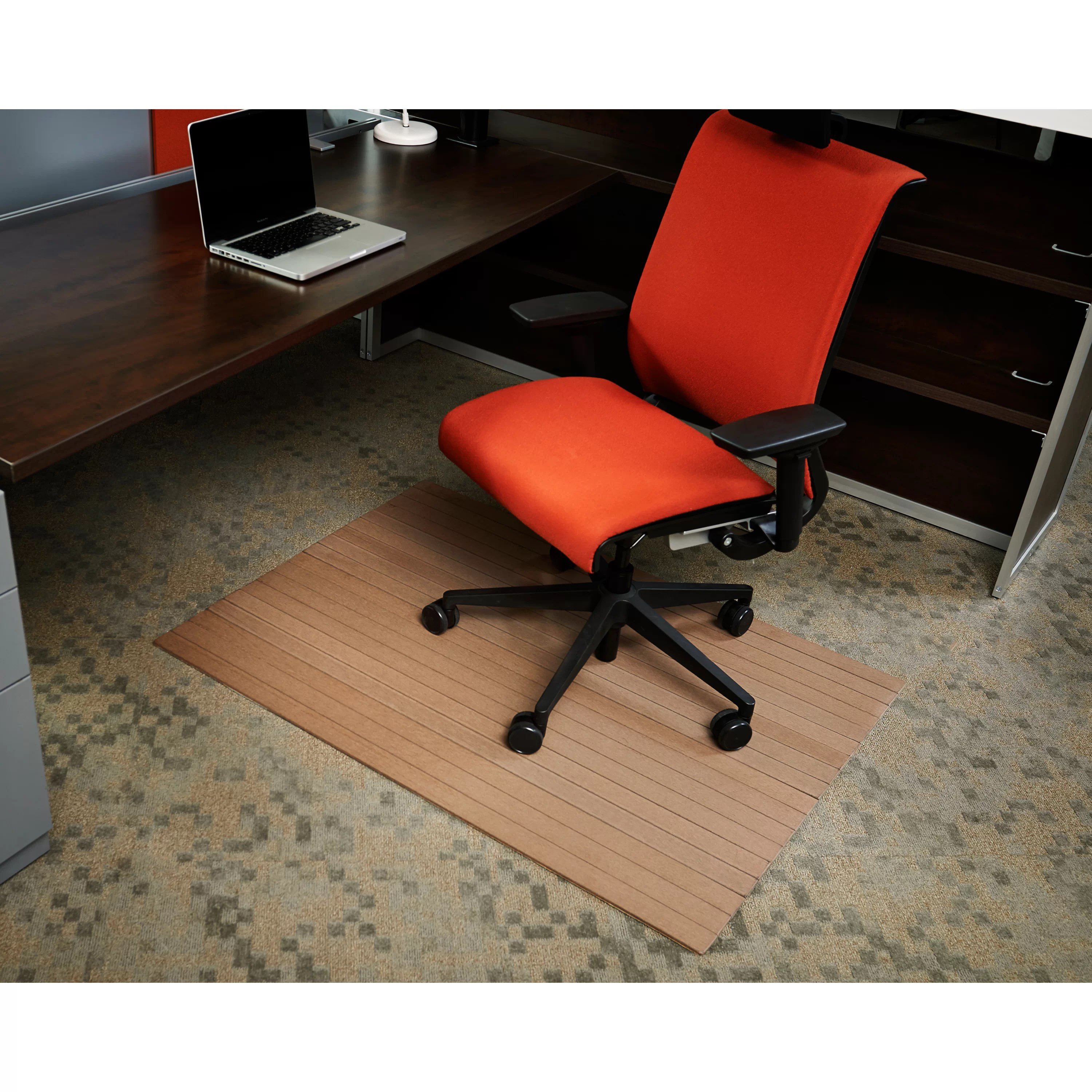 Wildon Home  Low Pile Bamboo Composite Office Chair Mat