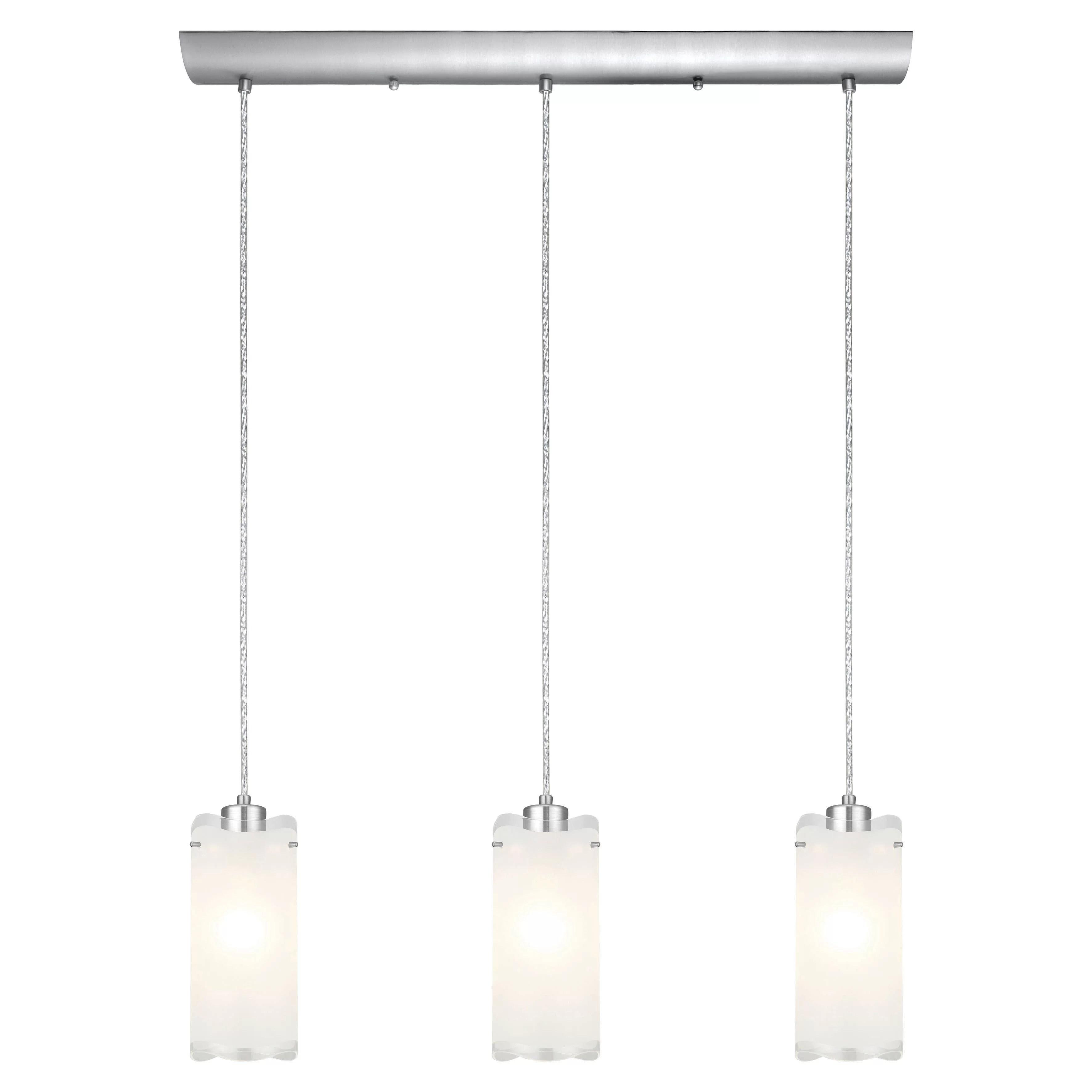 3 light kitchen island pendant industrial table eglo felice and reviews wayfair