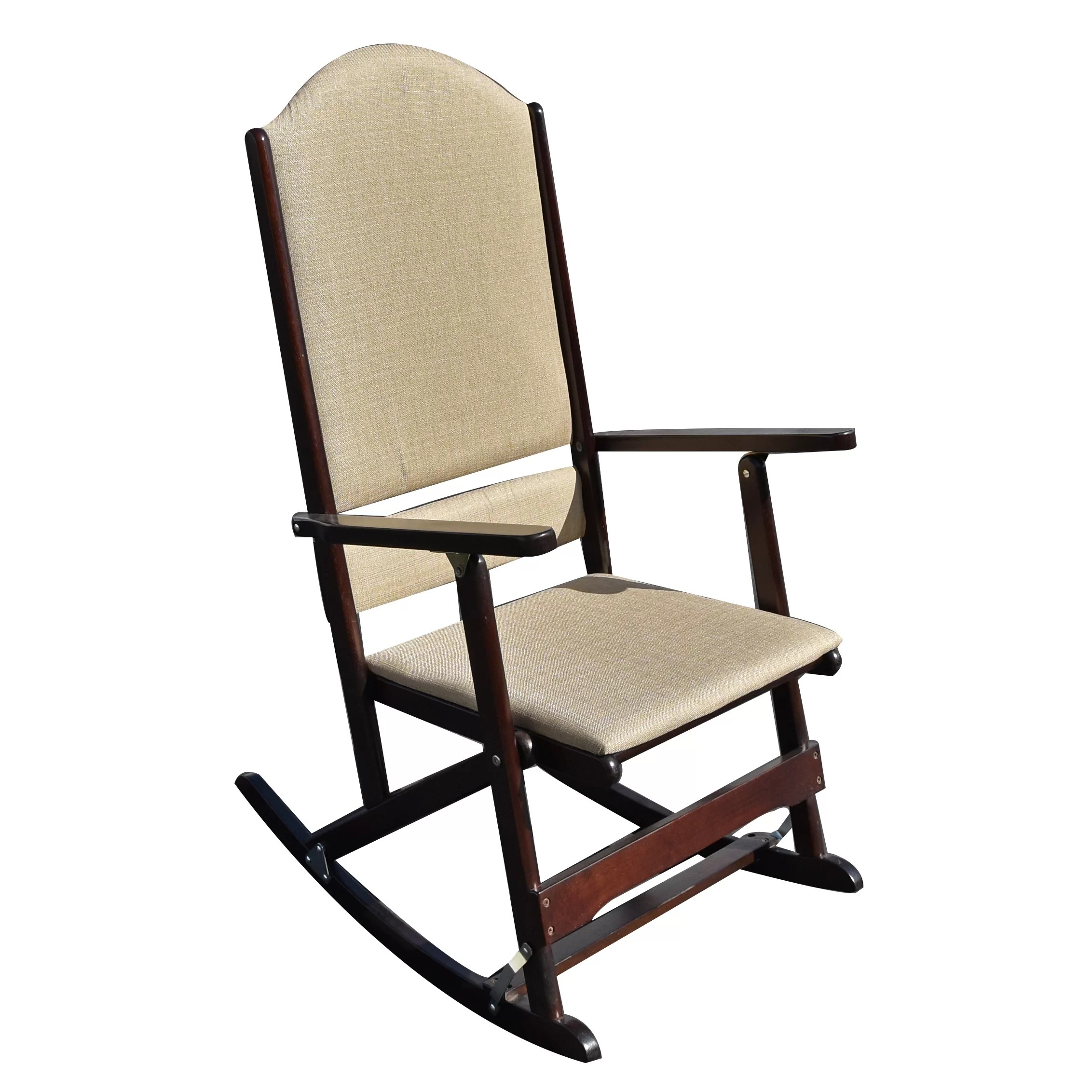 folding rocking chair wood poker chairs for sale wildon home  cedar creek solid