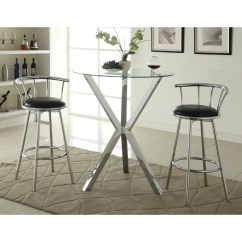 Bar Table Chairs Set Wheelchair Picture Wildon Home  Pub In Chrome And Reviews Wayfair