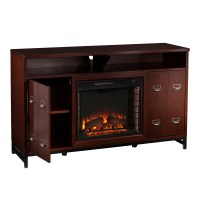 Wildon Home  Rachtman Media Stand Electric Fireplace ...