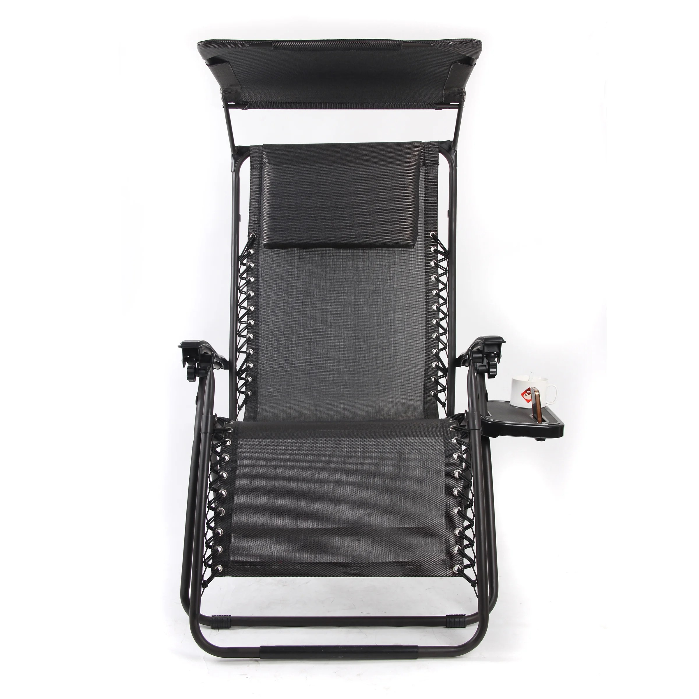 xl zero gravity chair with canopy footrest calusa mesh mid back gold sparrow pacific black and reviews