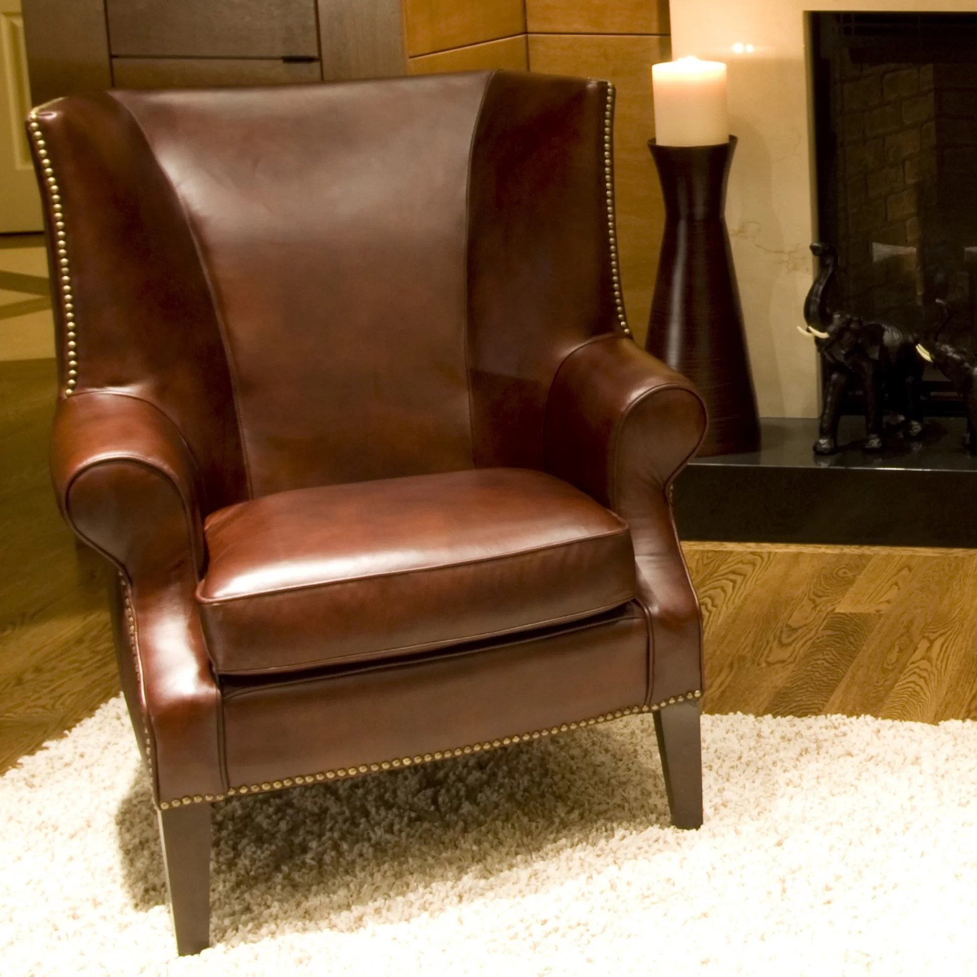 Top Grain Leather Office Chair Elements Fine Home Furnishings Camden Top Grain Leather