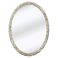 Majestic Mirror Contemporary Oval Shaped Chrome Framed ...