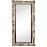 Majestic Mirror Large Rectangular White Washed Wood Framed ...