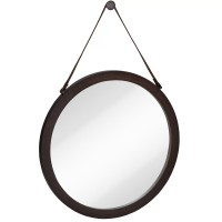 Majestic Mirror Round Urban Modern Leather Strap ...