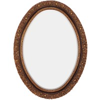 Majestic Mirror Traditional Oval Gold and Black Antique ...