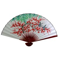 Oriental Furniture Cherry Blossom Fan Wall Dcor & Reviews ...