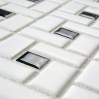 "EliteTile Retro 12.5"" x 12.5"" Porcelain Mosaic Tile in ..."