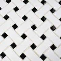 EliteTile Retro Basket Weave Random Sized Porcelain Mosaic ...