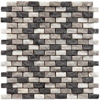 "EliteTile Grizelda 0.5"" x 1.25"" Natural Stone Mosaic Tile ..."