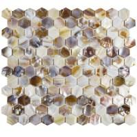 "EliteTile Shore 1"" x 1"" Seashell Mosaic Tile in Natural"