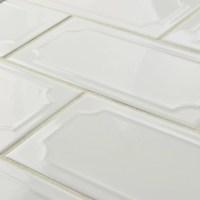 """EliteTile Thira 4"""" x 8"""" Ceramic Field Tile in Blanco ..."""