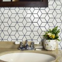 "EliteTile Retro Rhombus 1.88"" x 3.18"" Porcelain Mosaic ..."