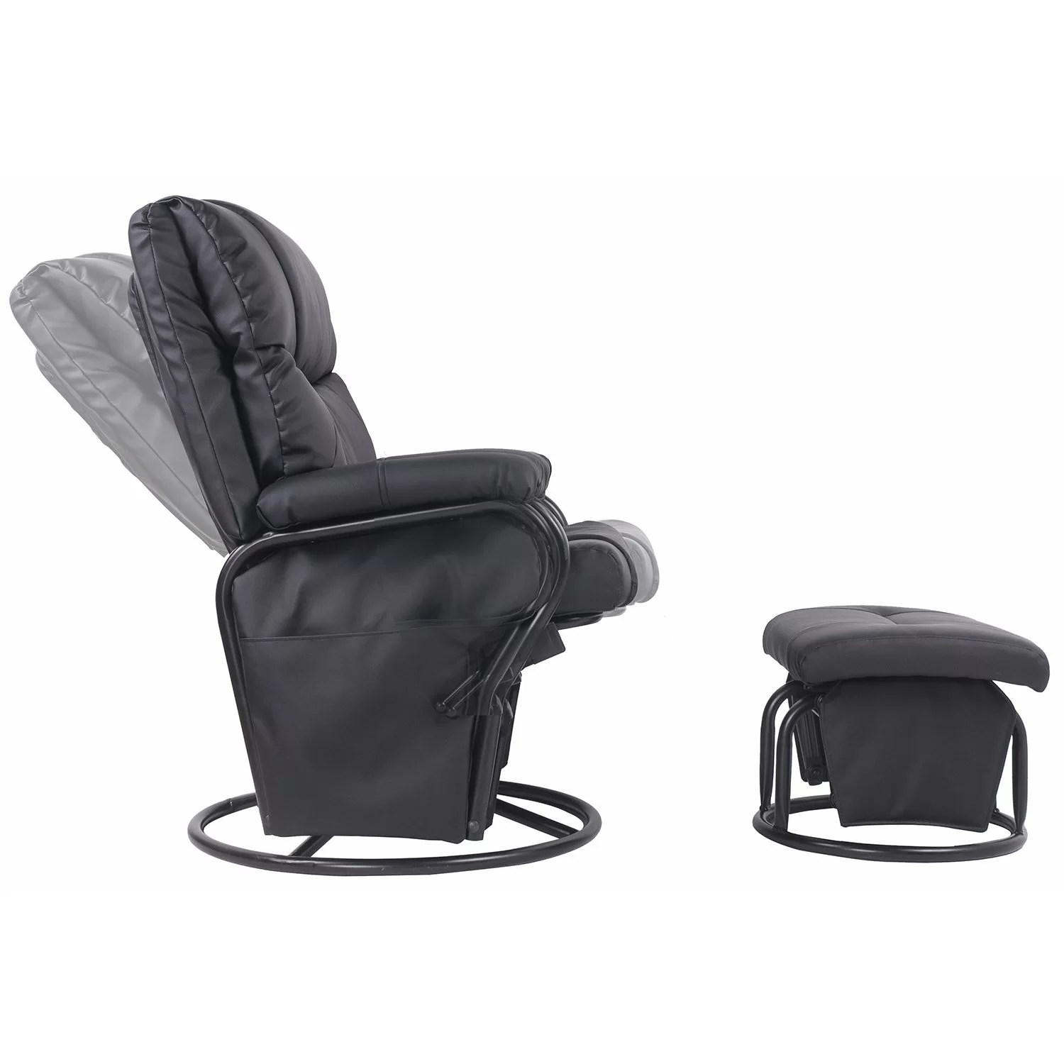 ergonomic chair and ottoman desk elegant merax swivel glider rocking recliner