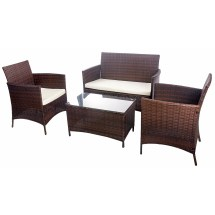 Merax 4 Piece Deep Seating Group With Cushion &