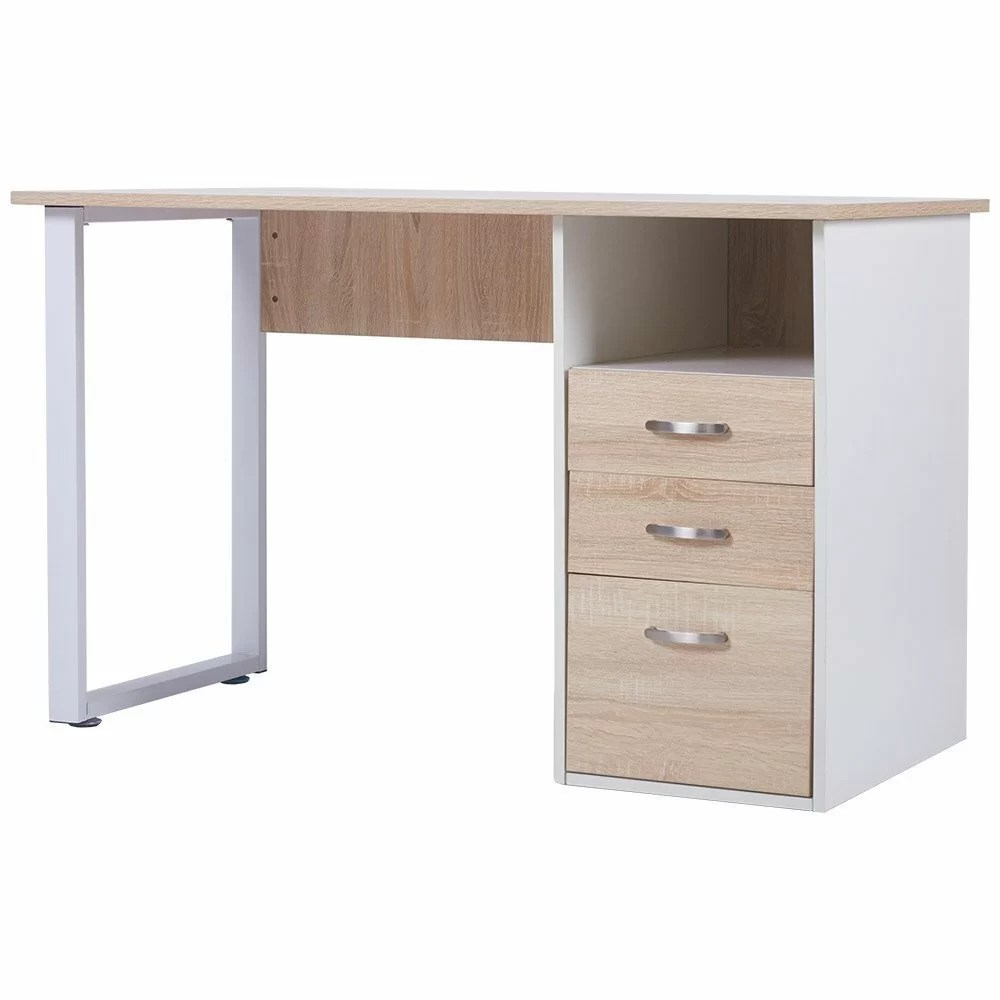 Merax Computer Desk with Cabinet and Drawer  Wayfair