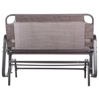 Merax Outdoor Garden Glider Bench