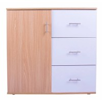Merax 3 Drawer and 1 Shelf Storage Cabinet | Wayfair