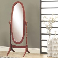 Monarch Specialties Inc. Oval Wood Frame Standing Mirror