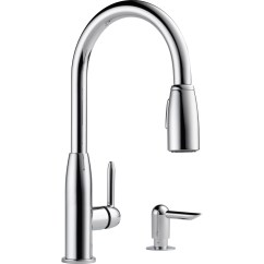 Widespread Kitchen Faucet Beach Themed Decor Peerless Faucets Single Handle