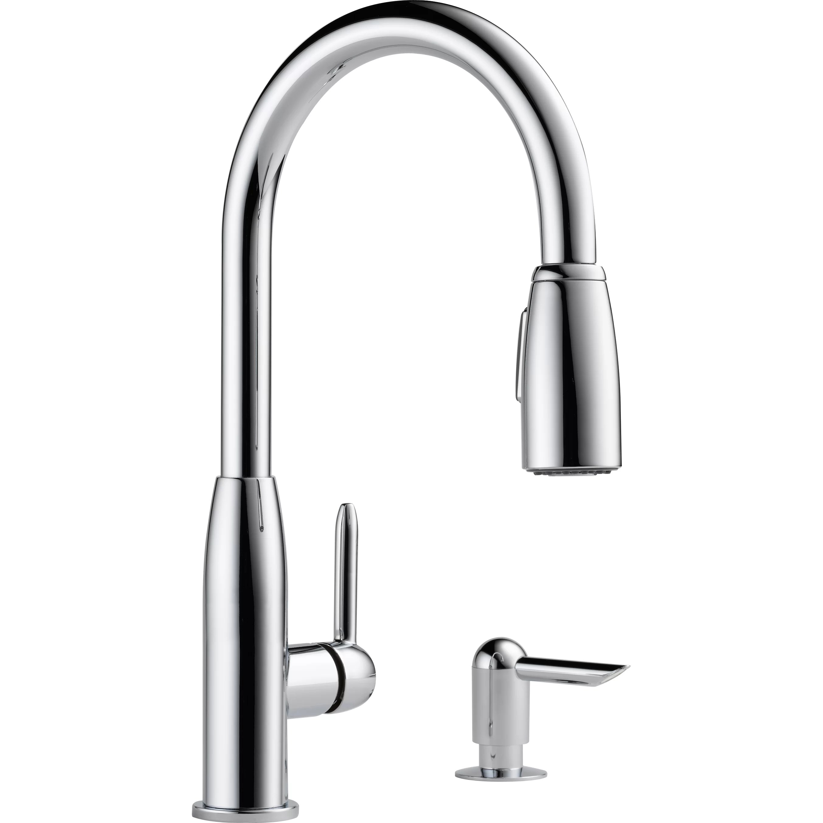 widespread kitchen faucet how to build a cabinet peerless faucets single handle