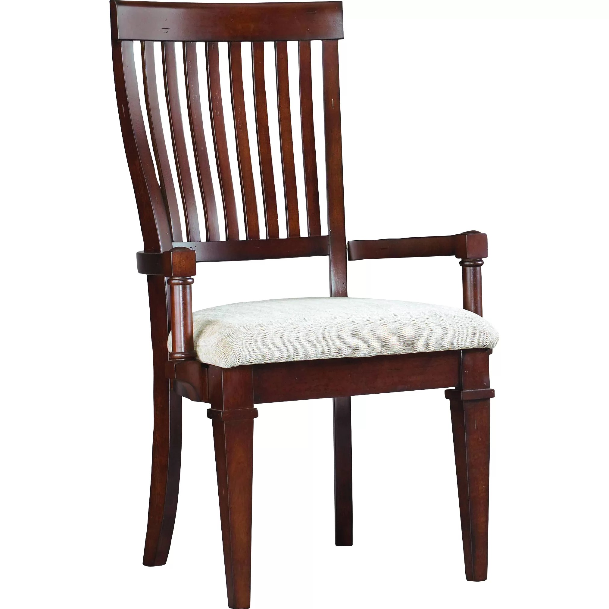 Hooker Chairs Hooker Furniture Abbott Place Slat Back Arm Chair Wayfair