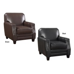 Full Grain Leather Chair Rail Height Ac Pacific Calanthe Club Wayfair