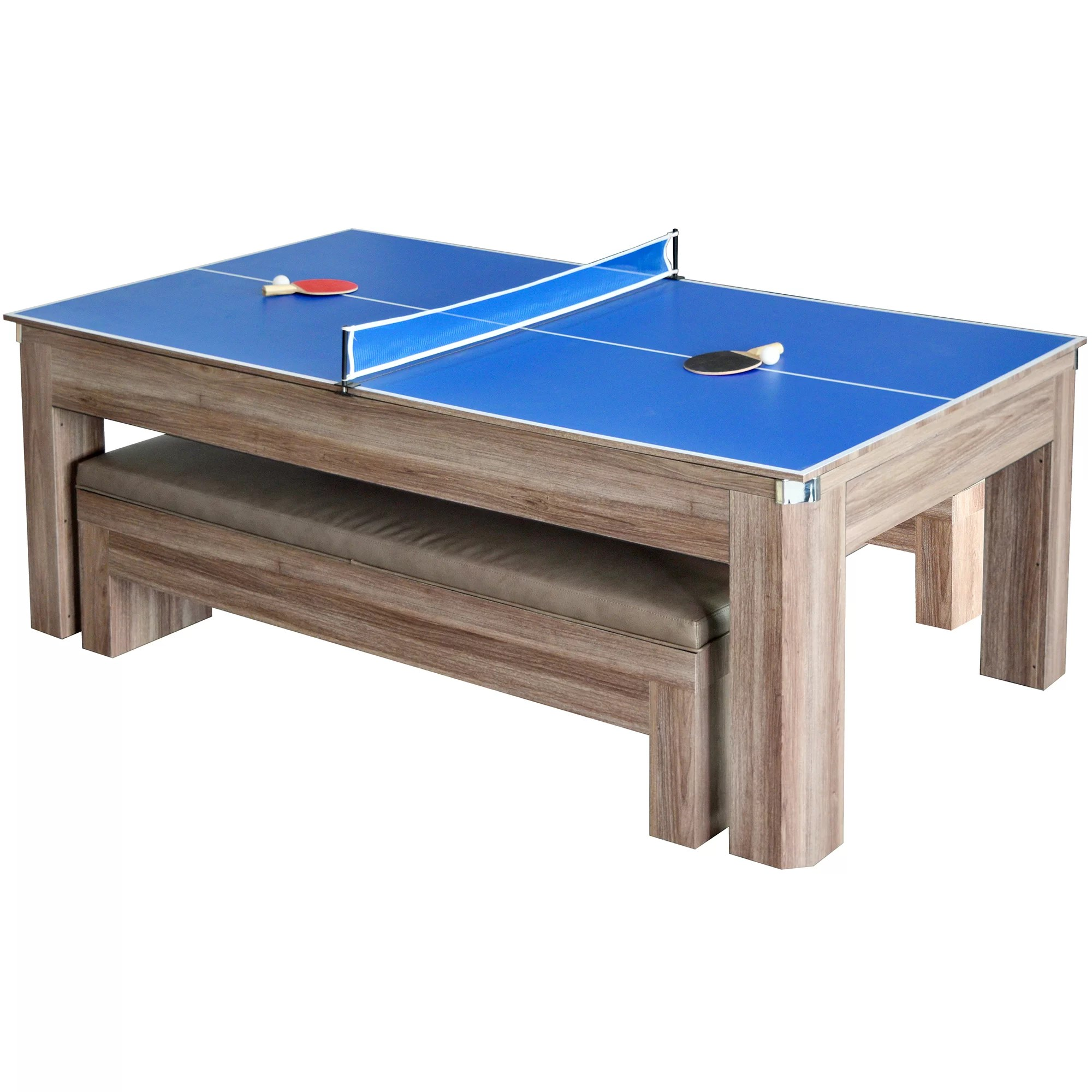 pool table kitchen combo bench style hathaway games newport 7 39 set and reviews