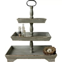 Creative Co-Op Cottage 3 Tiered Stand & Reviews | Wayfair