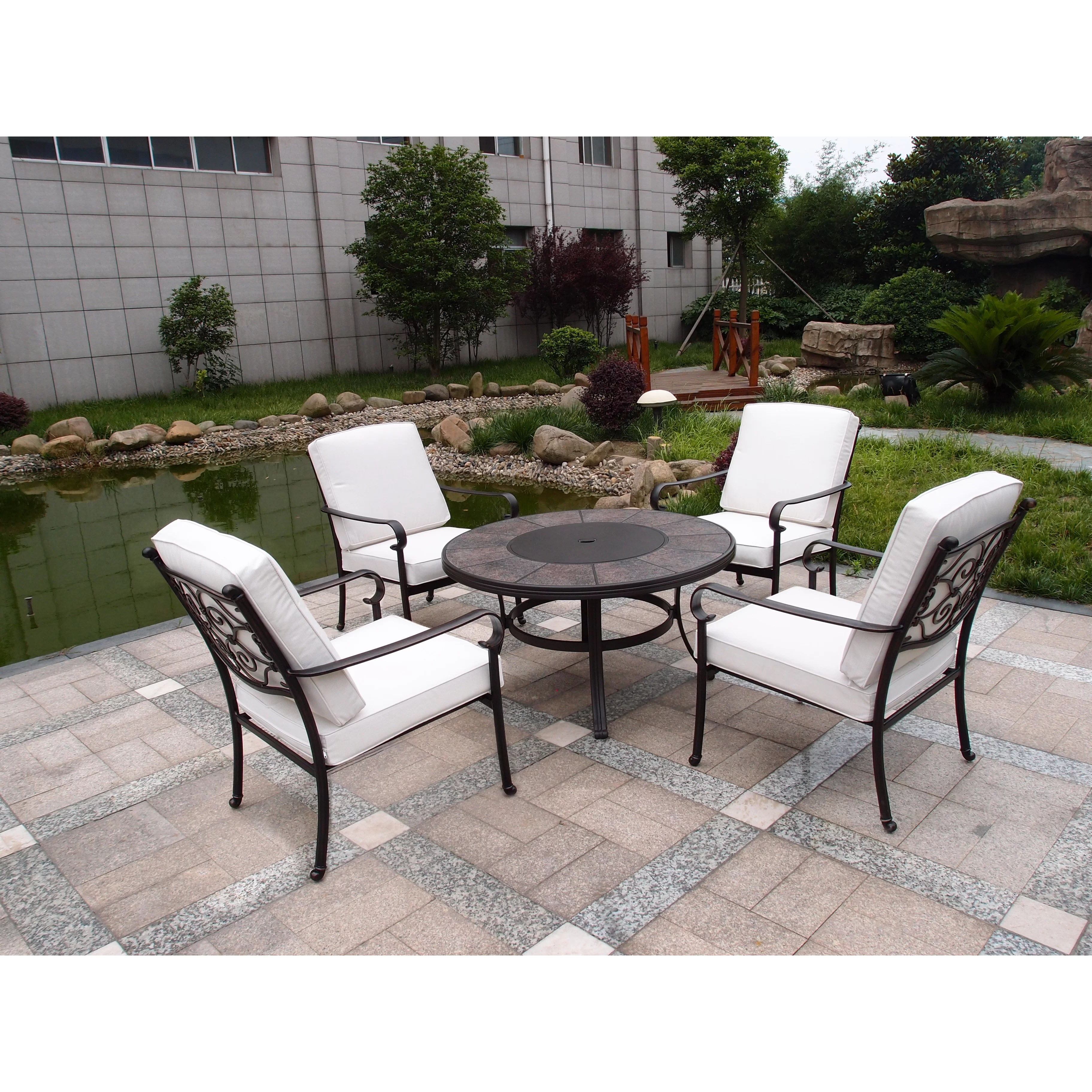Firepit Chairs Royal Craft Versailles 4 Seater Dining Set And Reviews